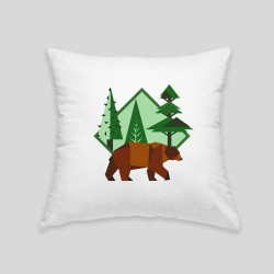 Brown bear cushion
